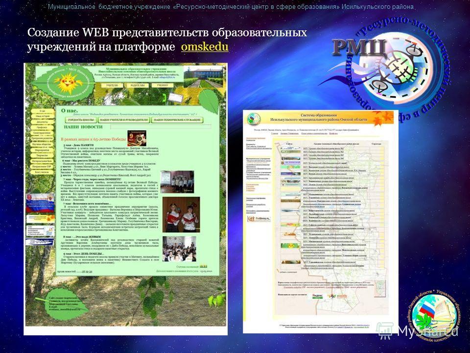 Муниципальное бюджетное учреждение «Ресурсно-методический центр в сфере образования» Исилькульского района Создание WEB представительств образовательных учреждений на платформе omskedu