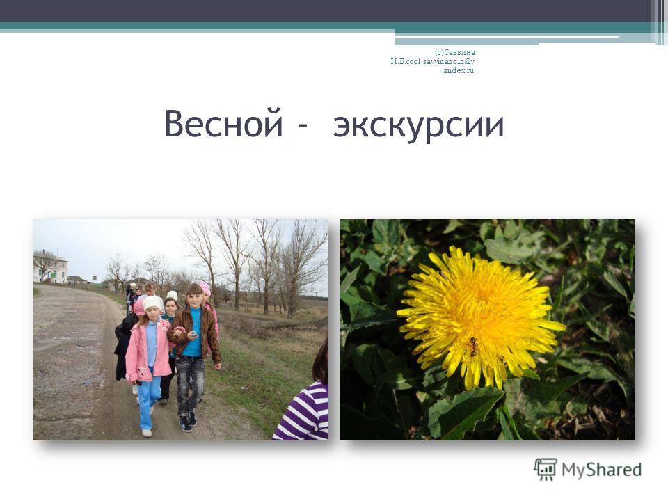 Весной - экскурсии (с)Саввина Н.Б.cool.savvina2012@y andex.ru