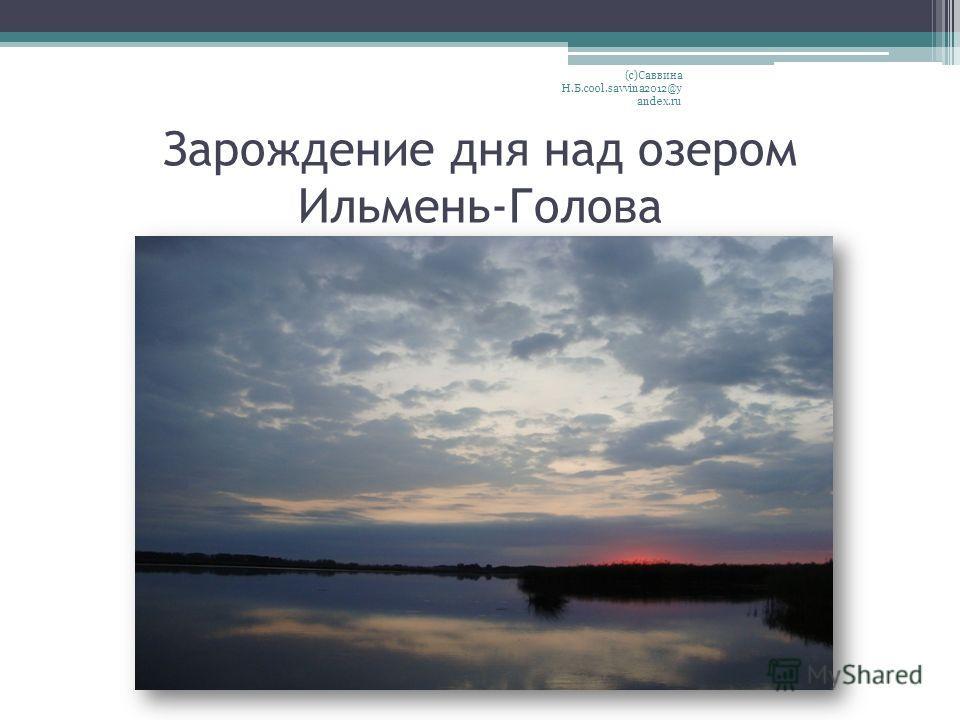 Зарождение дня над озером Ильмень-Голова (с)Саввина Н.Б.cool.savvina2012@y andex.ru