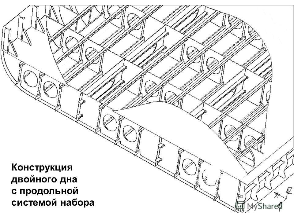 Конструкция двойного дна с продольной системой набора