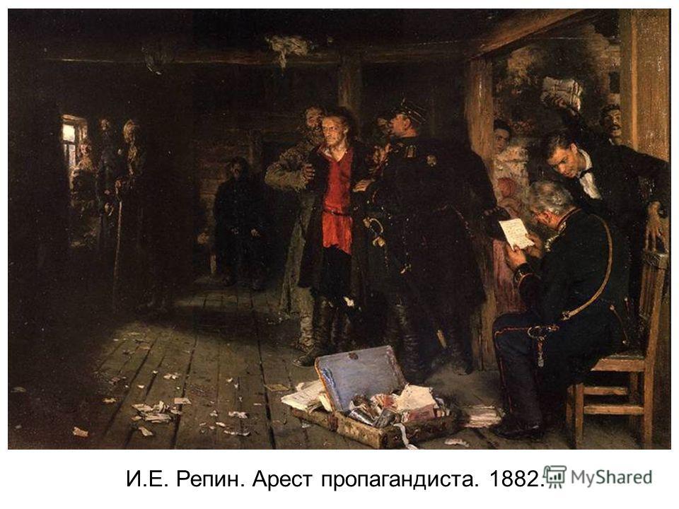 И.Е. Репин. Арест пропагандиста. 1882.