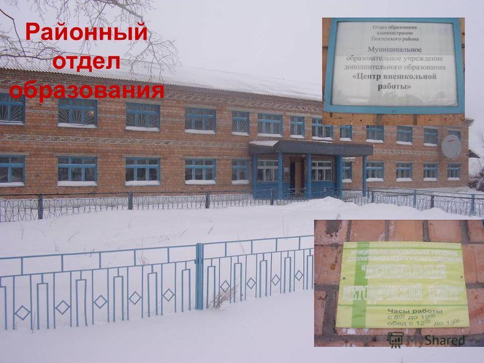 Районный отдел образования