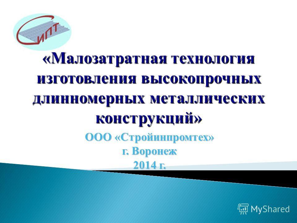 ООО «Стройинпромтех» г. Воронеж 2014 г.