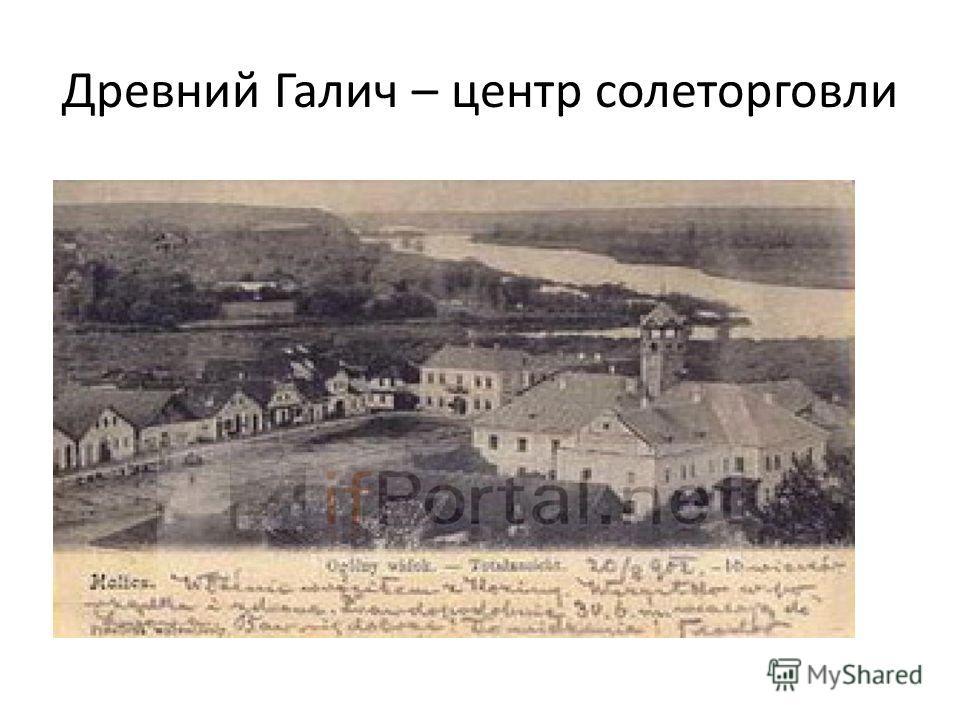 Древний Галич – центр солеторговли