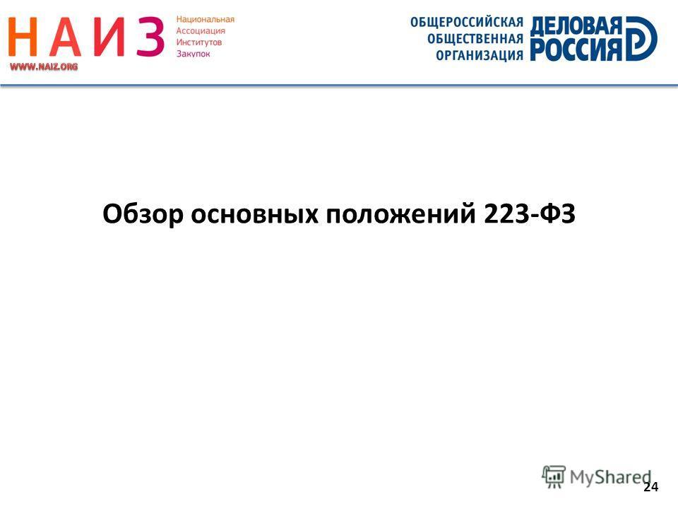 24 Обзор основных положений 223-ФЗ