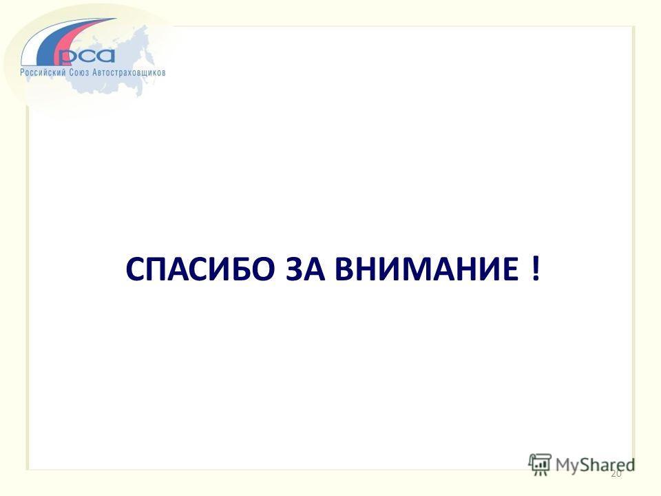 СПАСИБО ЗА ВНИМАНИЕ ! 20