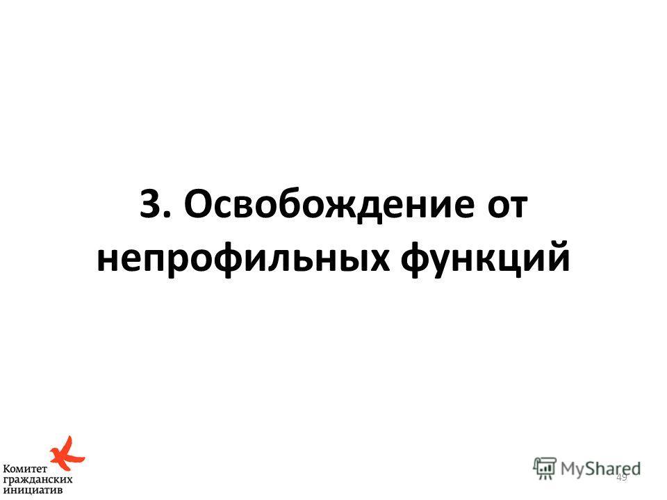3. Освобождение от непрофильных функций 49