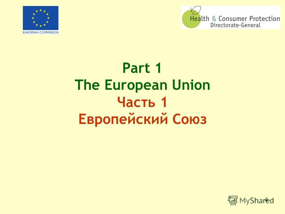 3 Health and Consumer Protection DG Overview of the DG and its policies ГД Защита здоровья потребителей Представление Дирекции и ее политики