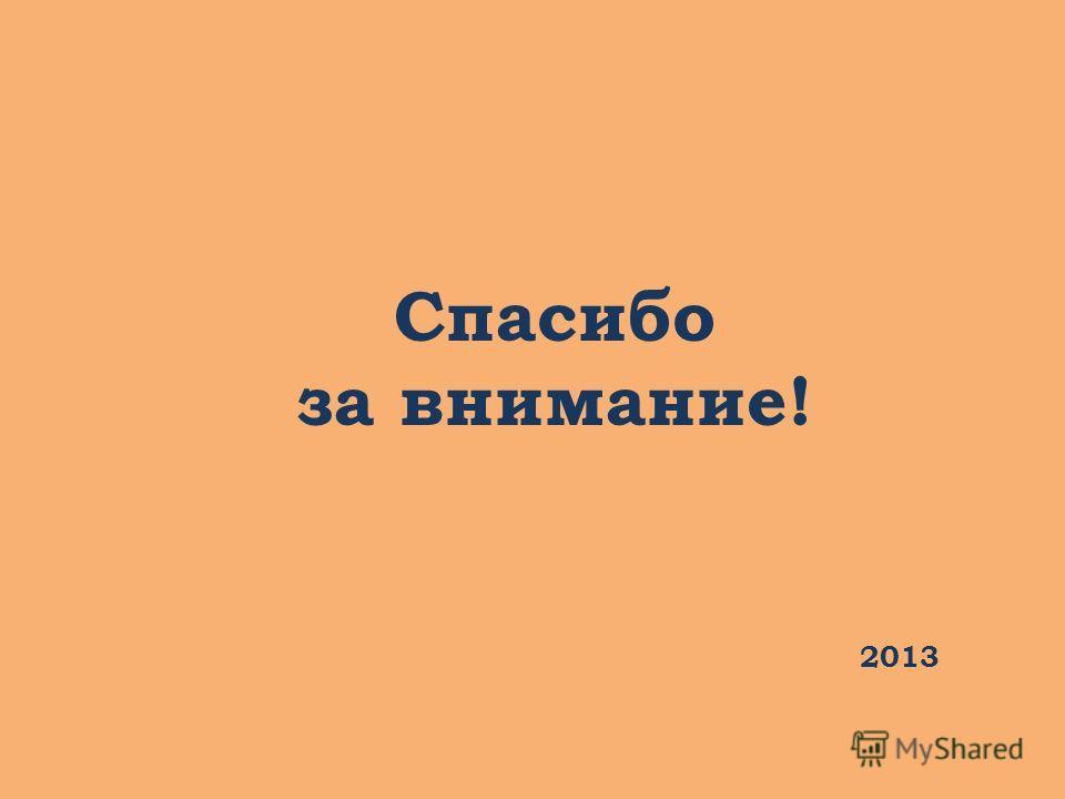 Спасибо за внимание! 2013