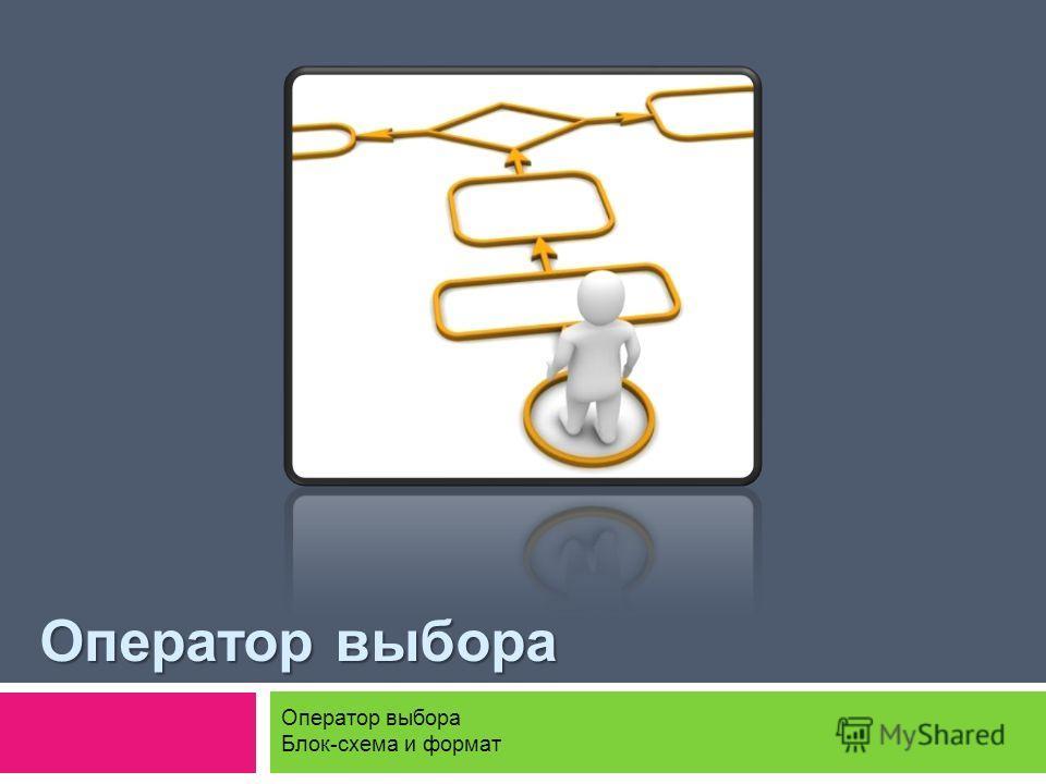 Оператор выбора Блок-схема и формат