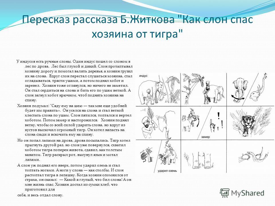 Пересказ рассказа Б.Житкова