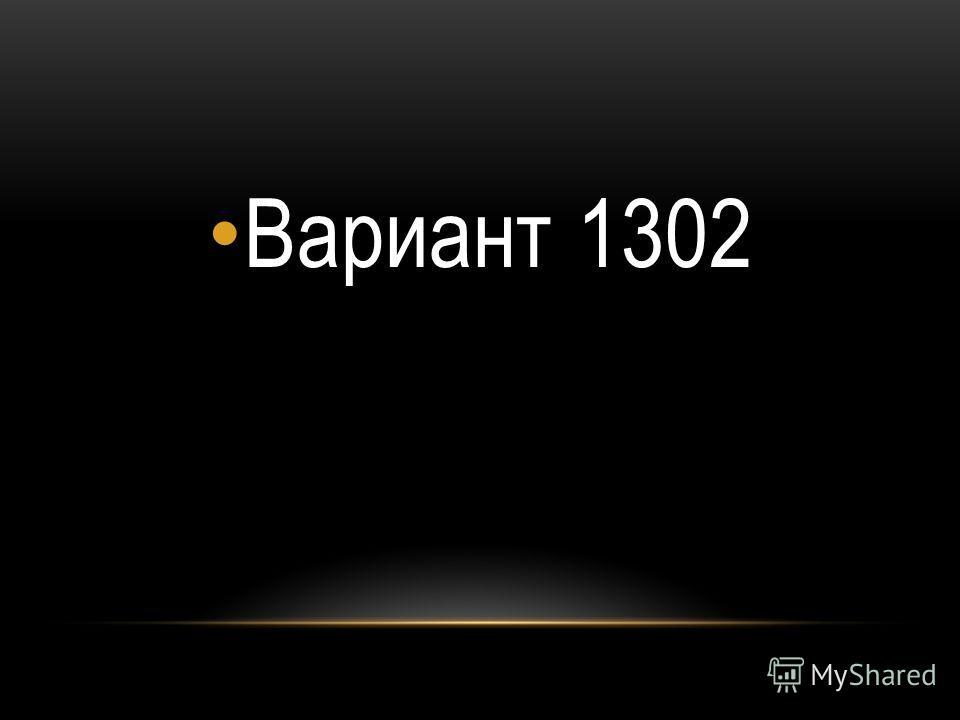 Вариант 1302