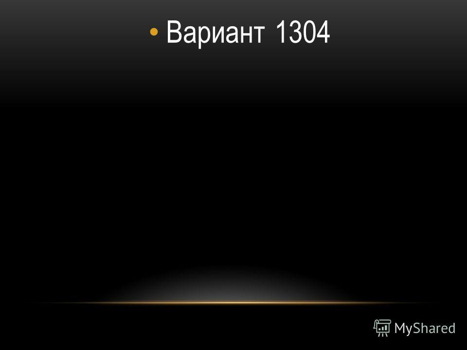 Вариант 1304