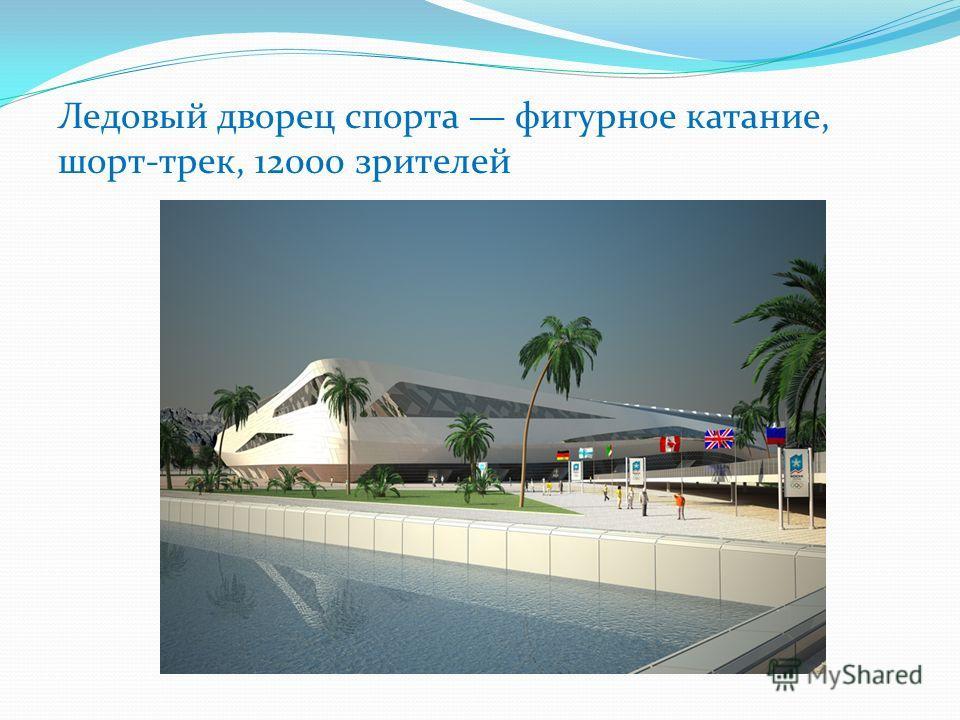 Ледовый дворец спорта фигурное катание, шорт-трек, 12000 зрителей