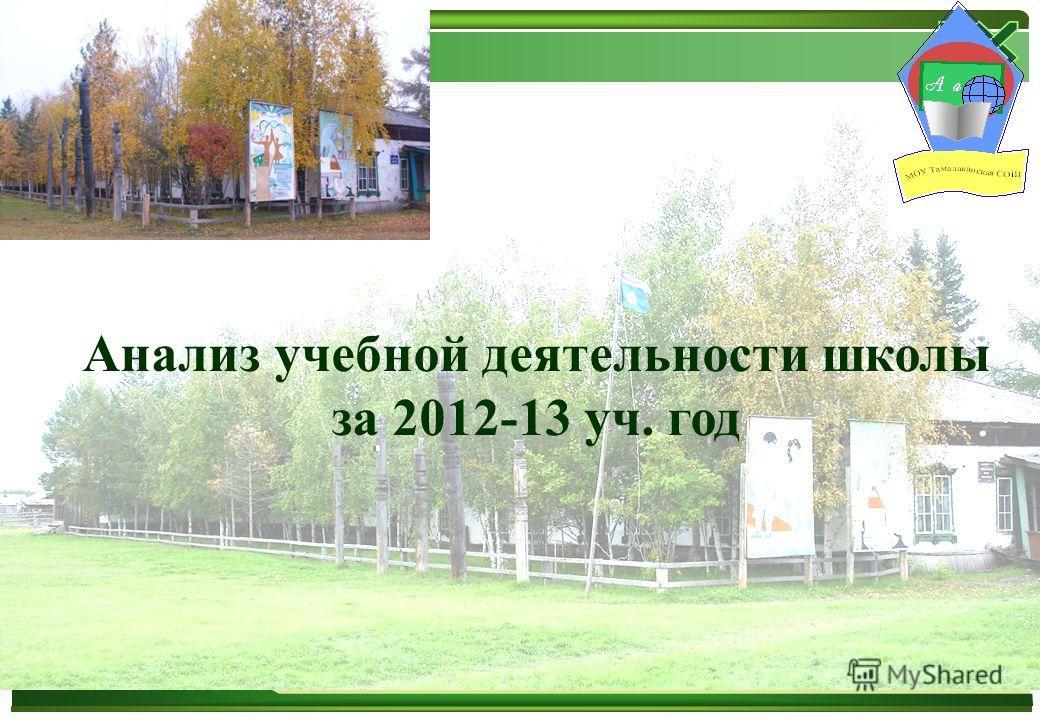 Анализ учебной деятельности школы за 2012-13 уч. год