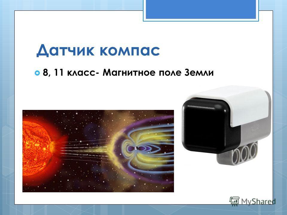 Датчик компас 8, 11 класс- Магнитное поле Земли