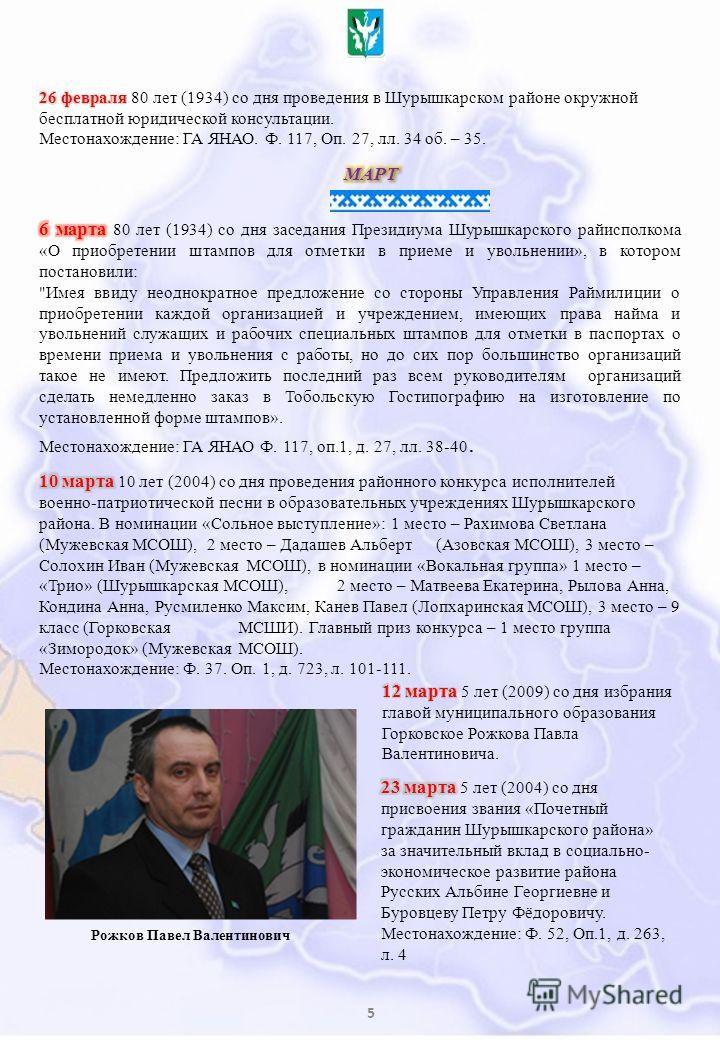5 Рожков Павел Валентинович