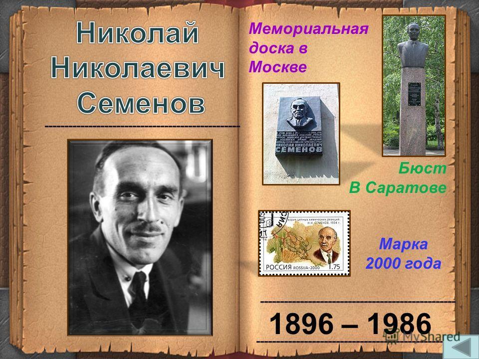 1896 – 1986 Бюст В Саратове Марка 2000 года Мемориальная доска в Москве
