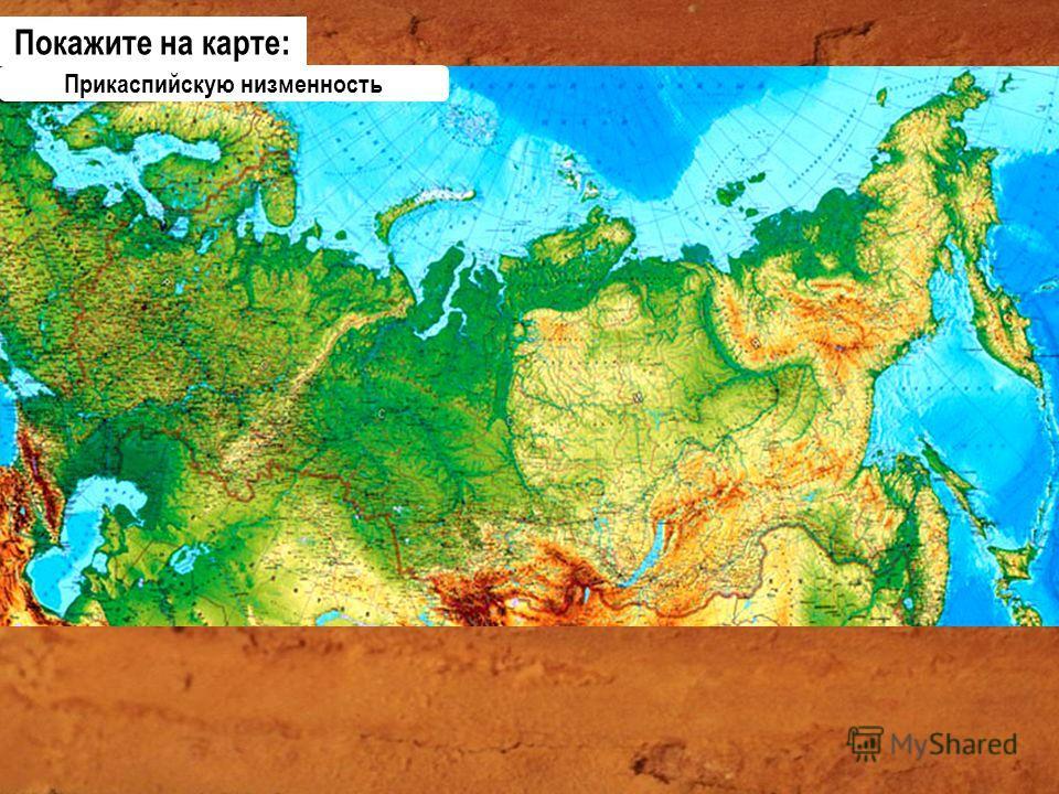 Прикаспийскую низменность Покажите на карте: