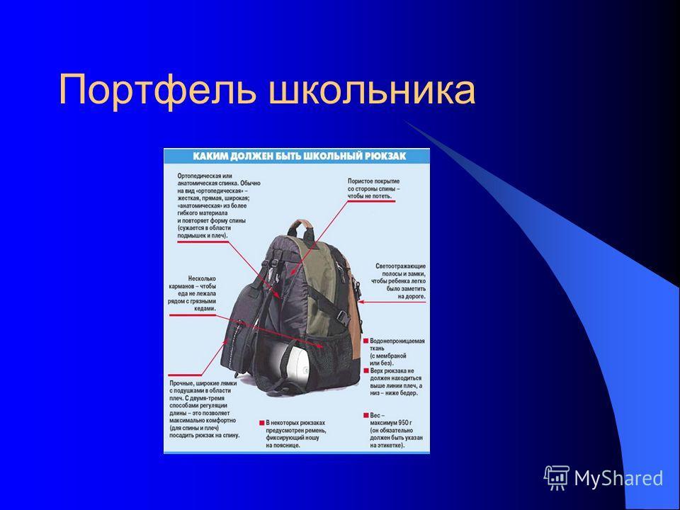 Портфель школьника