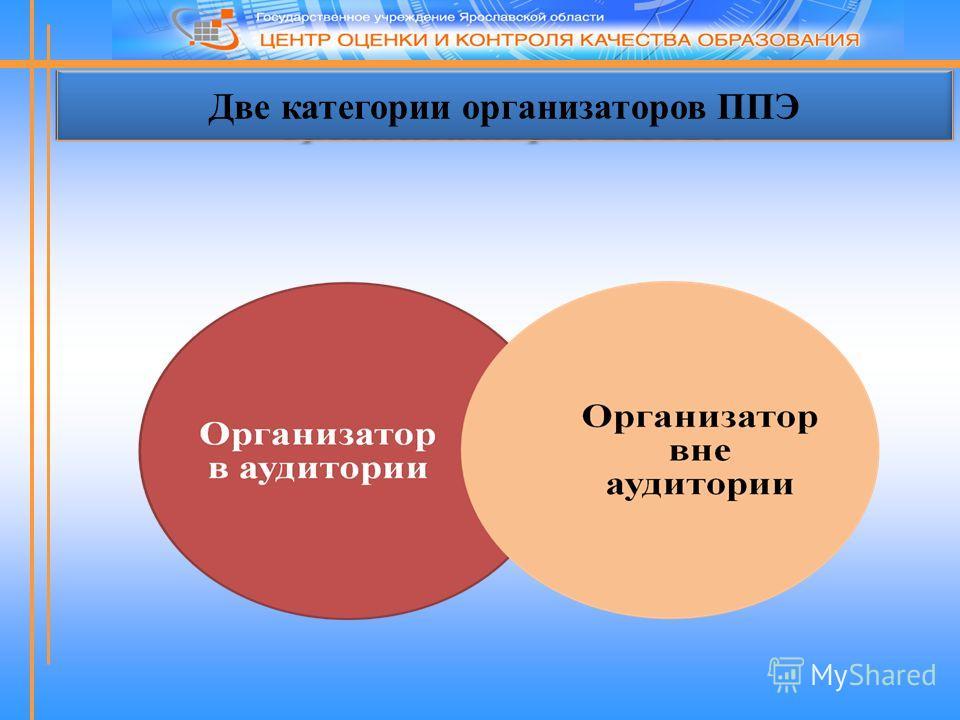 Две категории организаторов ППЭ