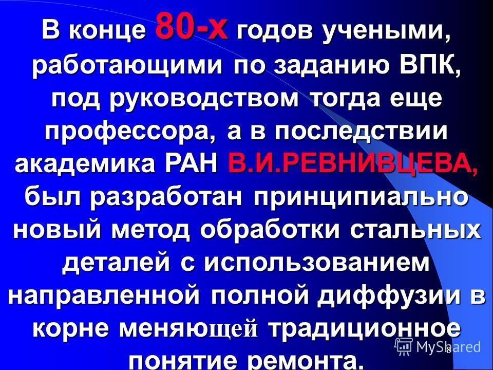 7 ИСТОРИЯ ВОЗНИКНОВЕНИЯ РВС-ТЕХНОЛОГИИ 1988 г.