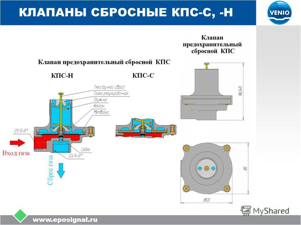 www.eposignal.ru КЛАПАНЫ СБРОСНЫЕ КПС-С, -Н