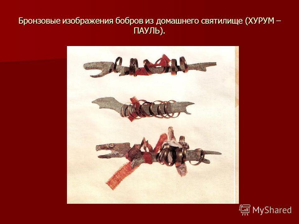Бронзовые изображения бобров из домашнего святилище (ХУРУМ – ПАУЛЬ).