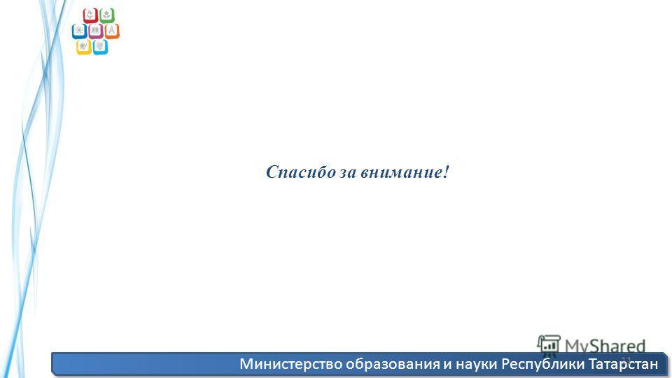 Министерство образования и науки Республики Татарстан 11 Спасибо за внимание!