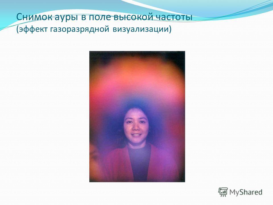 Снимок ауры в поле высокой частоты (эффект газоразрядной визуализации)