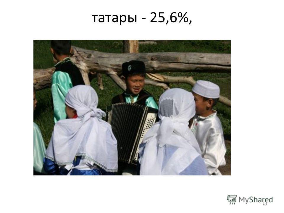 татары - 25,6%, 14