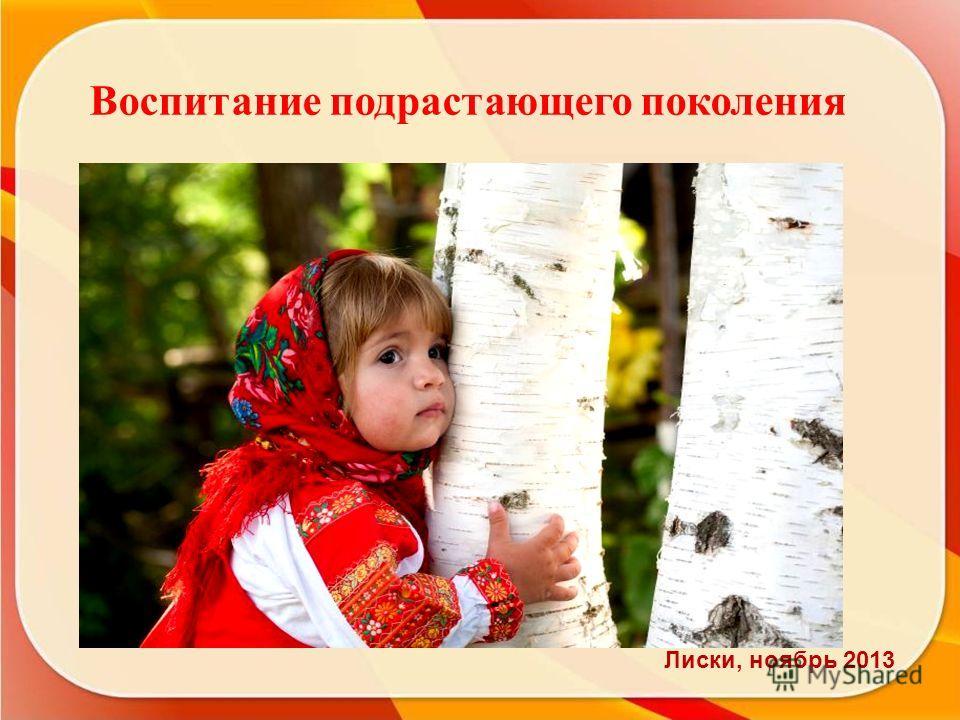 Воспитание подрастающего поколения СПАСИБО ЗА ВНИМАНИЕ! Лиски, ноябрь 2013