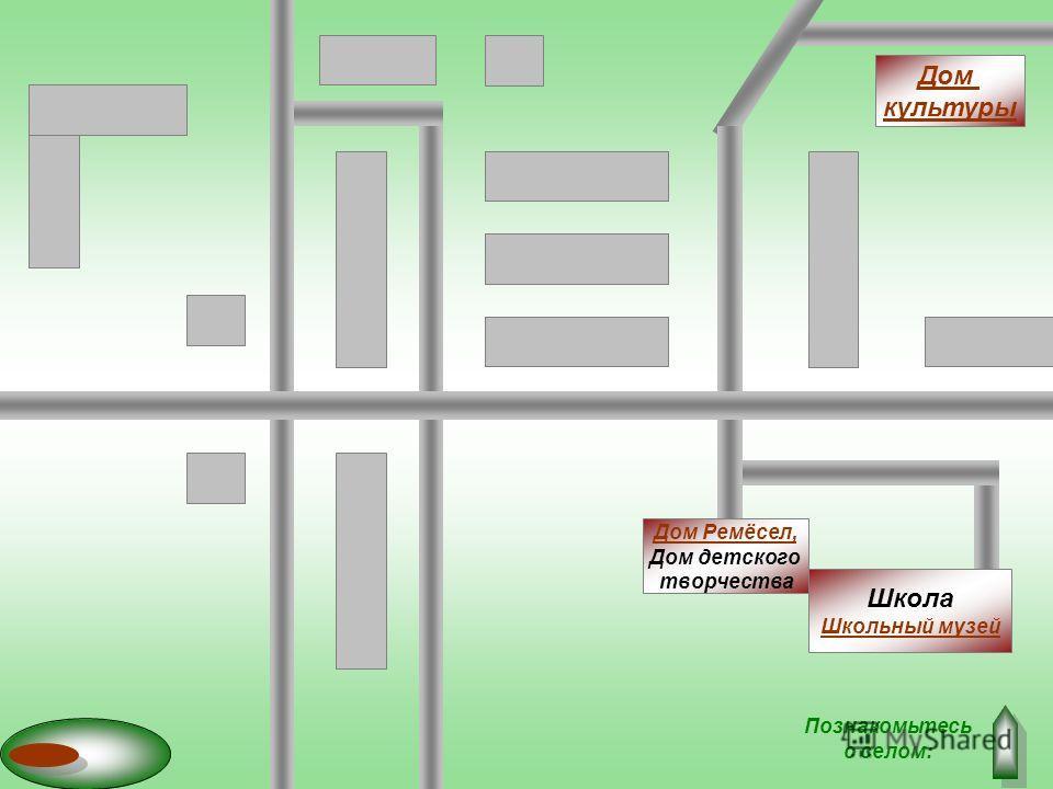 Дом культуры Школа Шшкольный музей Дом Ремёсел, Дом детского творчества Познакомьтесь с селом: