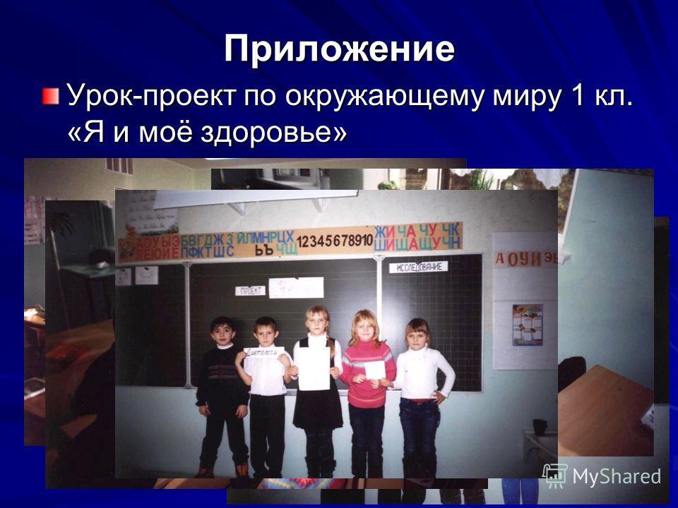 Приложение Урок-проект по окружающему миру 1 кл. «Я и моё здоровье»