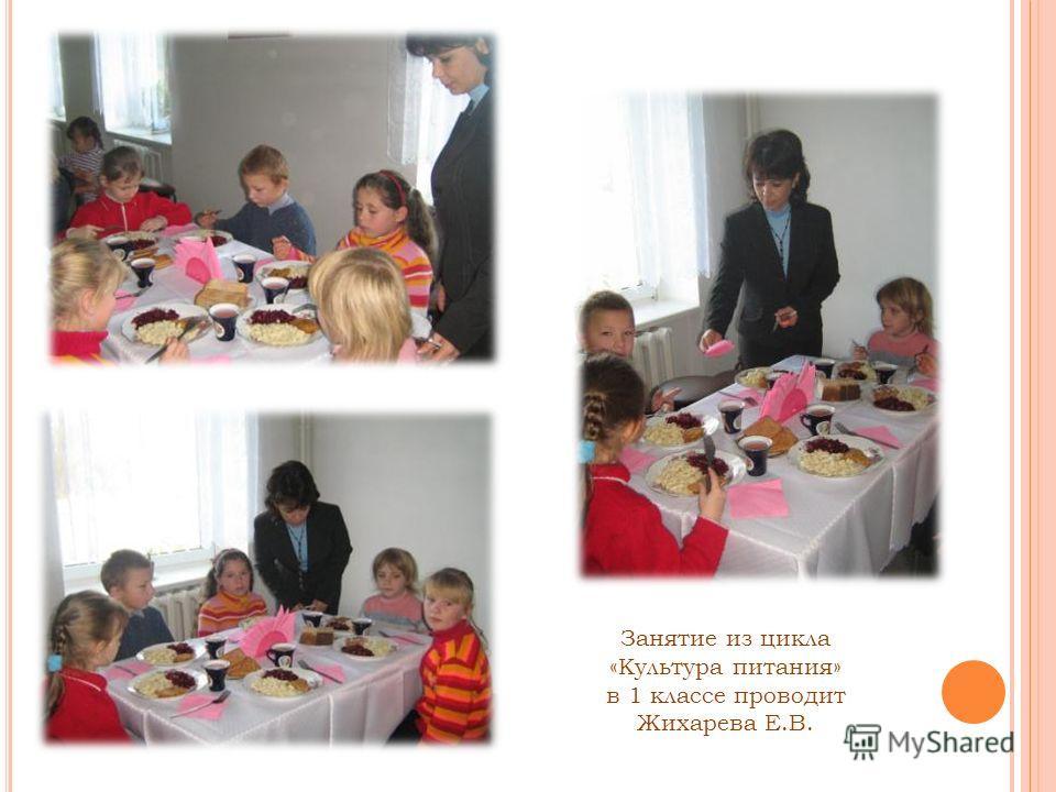 Занятие из цикла «Культура питания» в 1 классе проводит Жихарева Е.В.