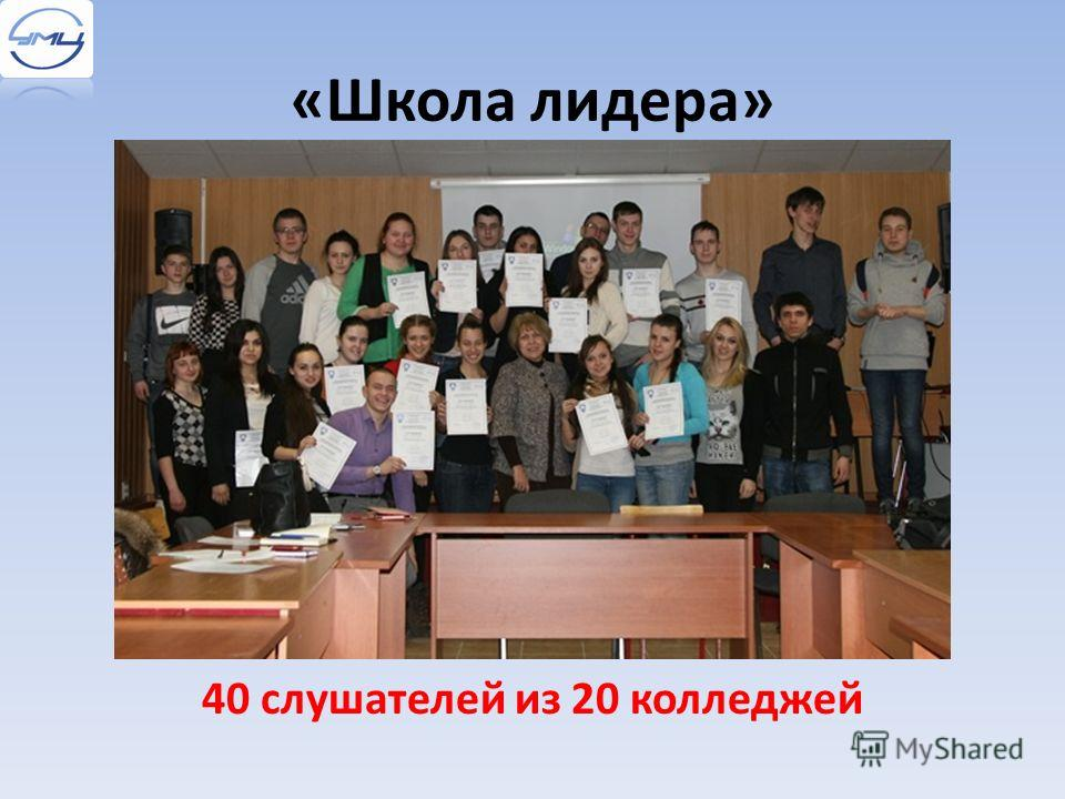 «Школа лидера» 40 слушателей из 20 колледжей