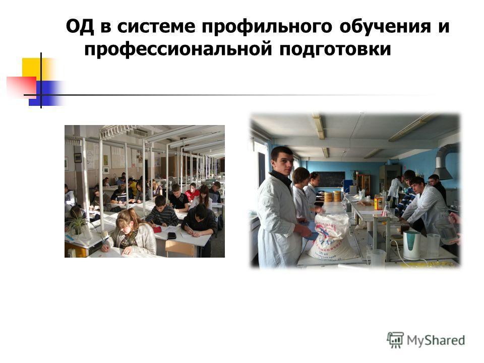 ОД в системе профильного обучения и профессиональной подготовки