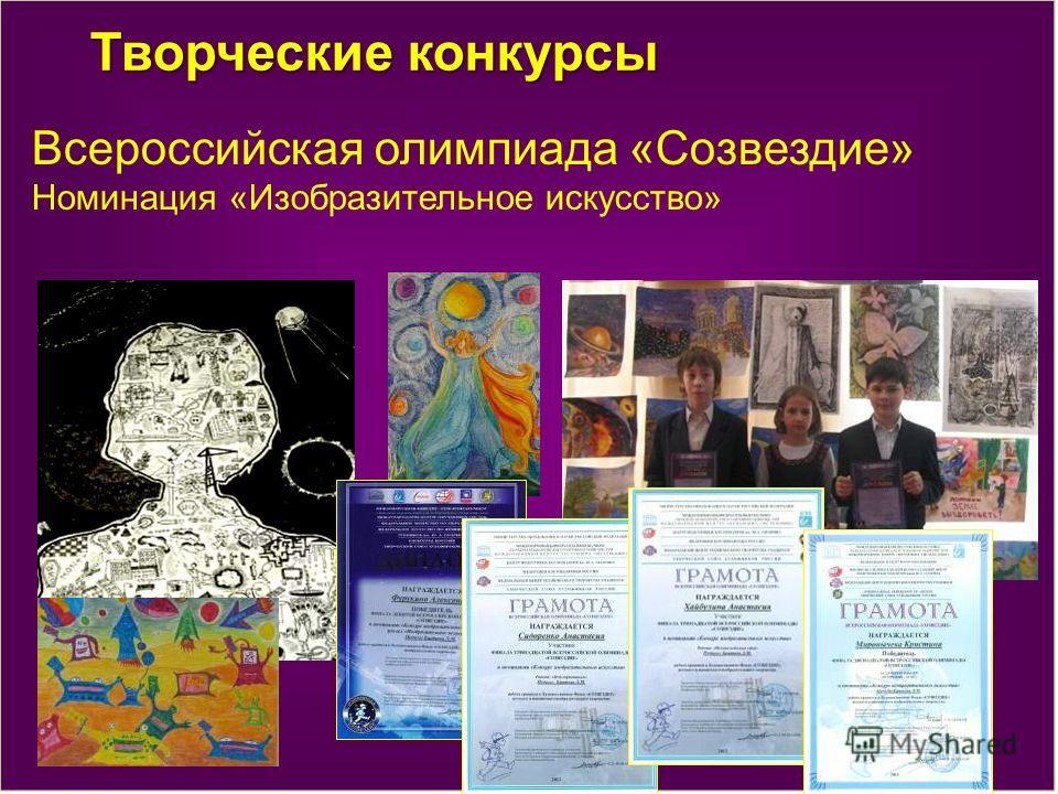 Творческие конкурсы Всероссийская олимпиада «Созвездие» Номинация «Изобразительное искусство»