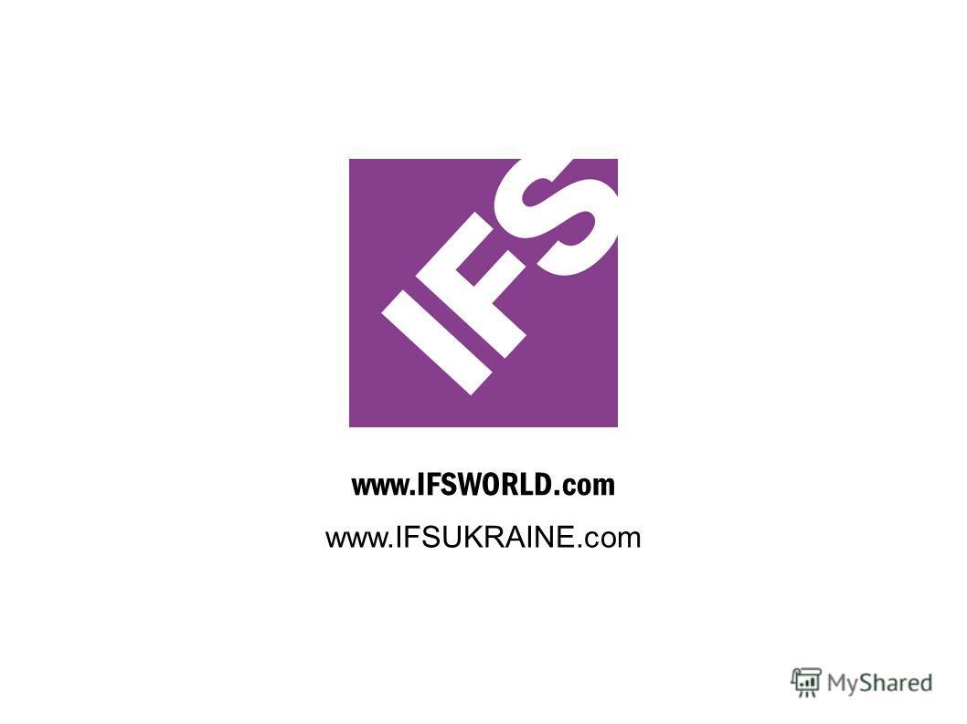 www.IFSWORLD.com www.IFSUKRAINE.com