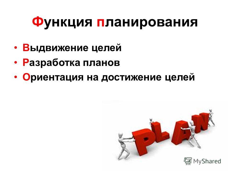 4 функции управления Планирование Организация Контроль Мотивация