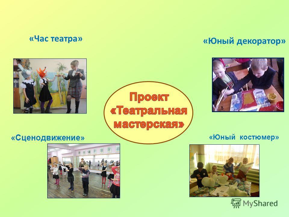 «Час театра» «Юный декоратор» «Сценодвижение» «Юный костюмер»
