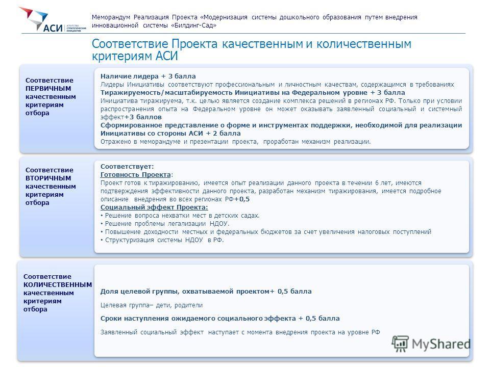 7 Направление «Новый Бизнес» Первичная экспертиза Проекта Соответствие Проекта качественным и количественным критериям АСИ Соответствие ПЕРВИЧНЫМ качественным критериям отбора Соответствие ПЕРВИЧНЫМ качественным критериям отбора Наличие лидера + 3 ба