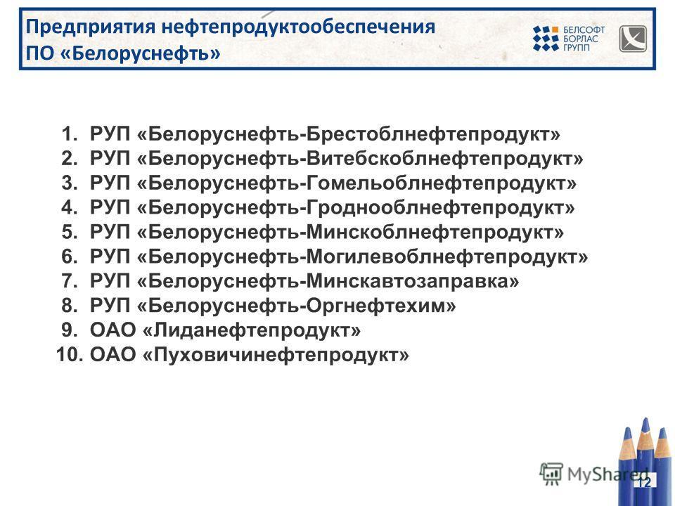 Предприятия нефтепродуктообеспечения ПО «Белоруснефть» 12