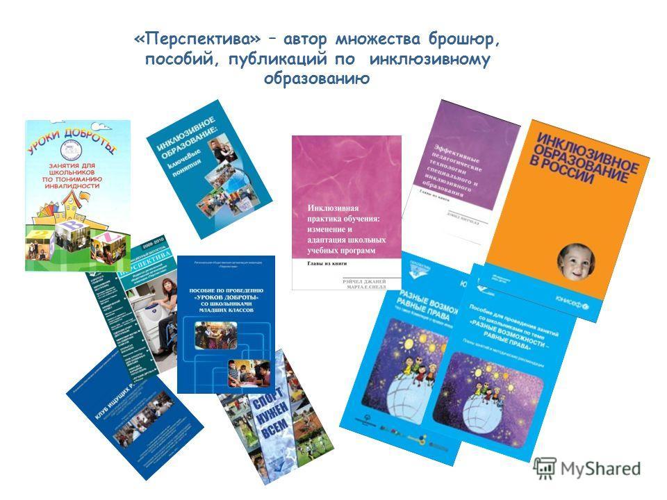 «Перспектива» – автор множества брошюр, пособий, публикаций по инклюзивному образованию