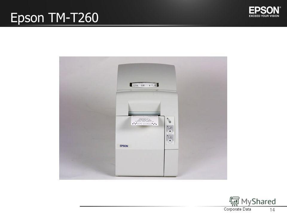 14 Corporate Data Epson TM-T260