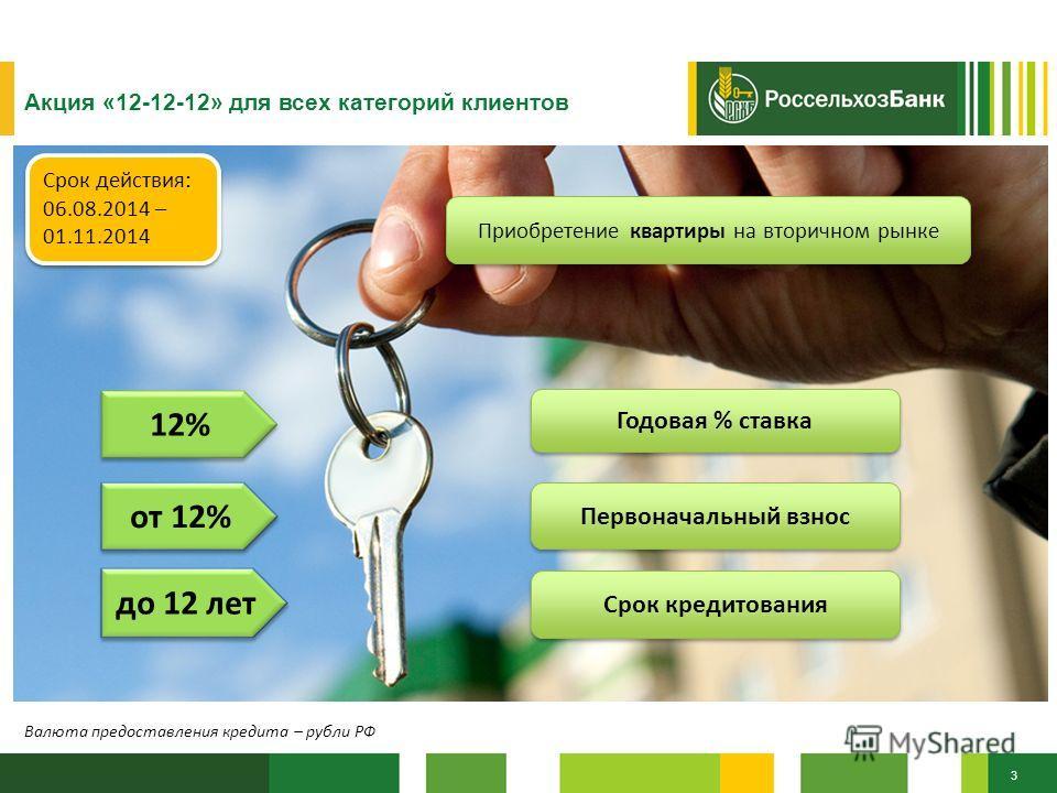 Калькулятор ипотеки россельхозбанк вторичное жилье 2016