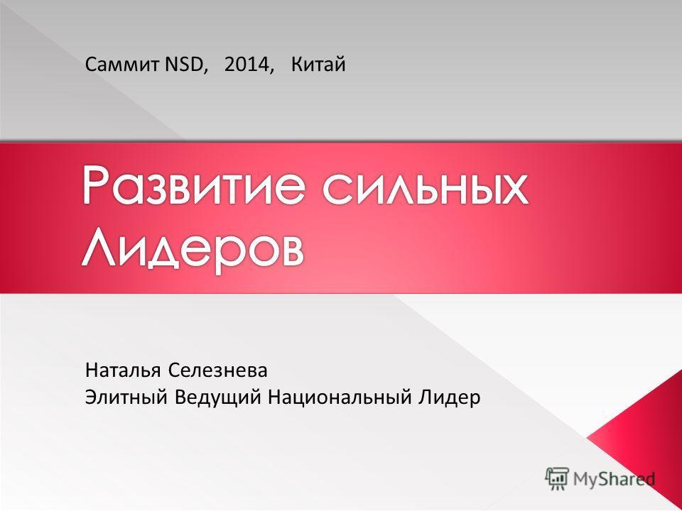 Саммит NSD, 2014, Китай