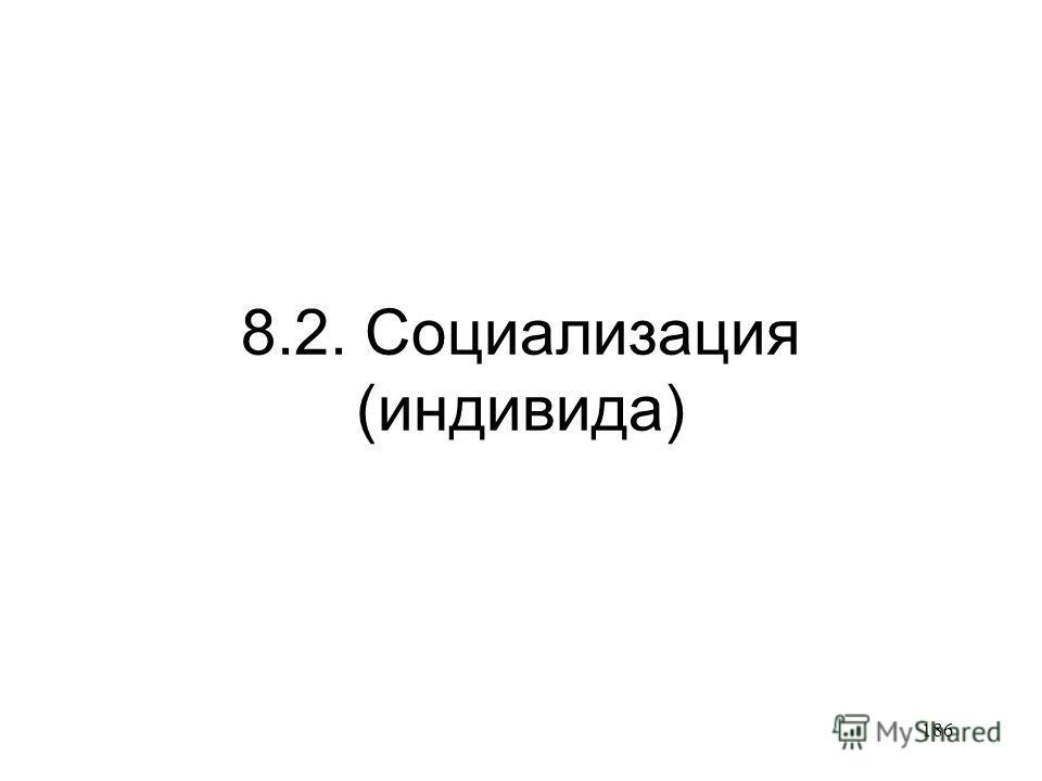 186 8.2. Социализация (индивида)