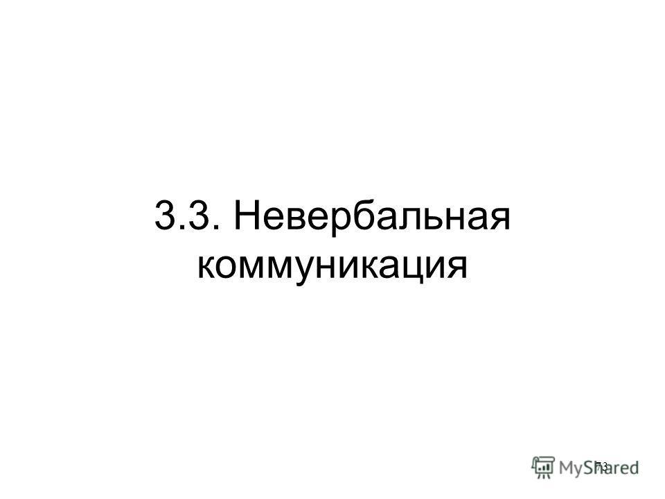 73 3.3. Невербальная коммуникация