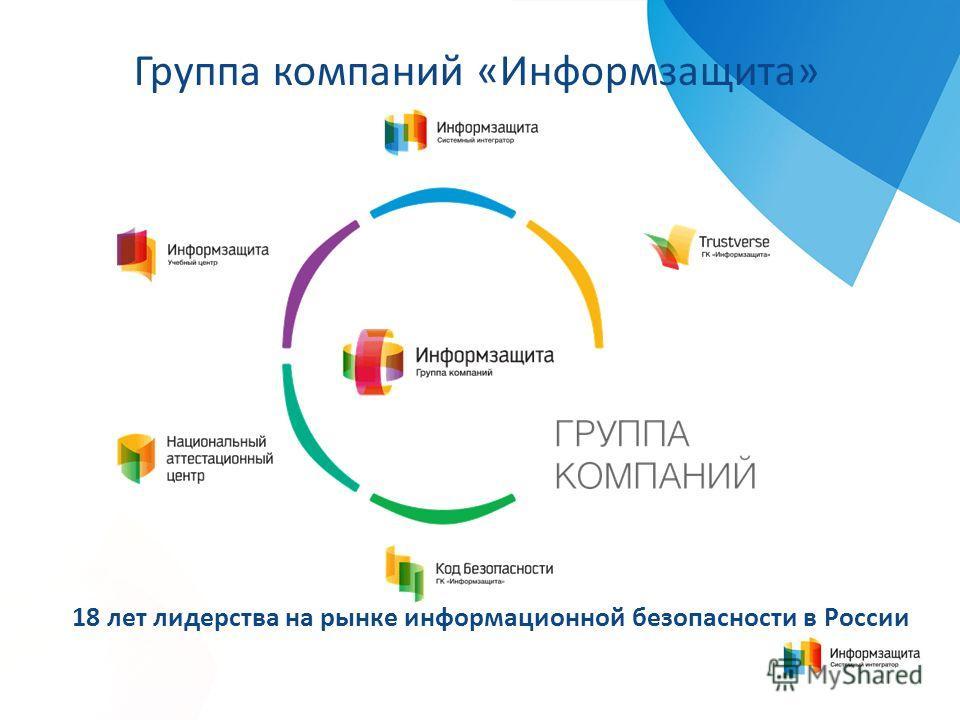 18 лет лидерства на рынке информационной безопасности в России Группа компаний «Информзащита»